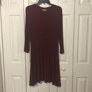 Maroon Long Sleeve American Eagle Dress
